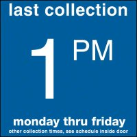 COLLECTION BOX DECALS - 1:00 P.M.