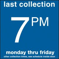 COLLECTION BOX DECALS - 7:00 P.M.