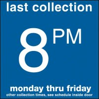COLLECTION BOX DECALS - 8:00 P.M.