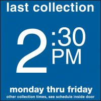 COLLECTION BOX DECALS - 2:30 P.M.