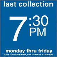 COLLECTION BOX DECALS - 7:30 P.M.