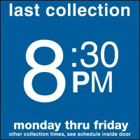 COLLECTION BOX DECALS - 8:30 P.M.