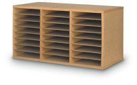 24 Compartment Wood Hold Mail Bin