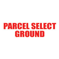 """Parcel Select Ground"" Pre-Inked Small Counter Stamp"