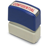 """Confidential"" Pre-Inked Small Counter Stamp"