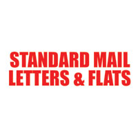 """Standard Mail Letters & Flats"" Pre-Inked Counter Stamp"