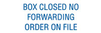 Box Closed - No Forwarding Order on File