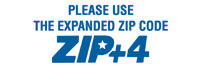 Please Use Zip + 4 The Expanded Zip Code
