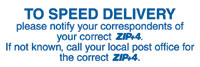 To Speed Delivery, Please Notify Your