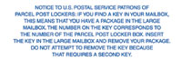 Notice to US Postal Service Patrons