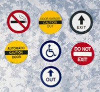 Door Safety Decal - Handicapped