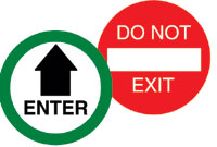 Door Safety Decal - Enter Do Not Exit