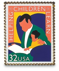 Helping Children Learn Stamp Pin