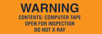 Warning Contents Computer Tape - Open For