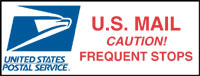 """Caution! Frequent Stops"" Logo Magnetic Sign"