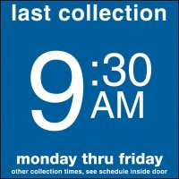 COLECTION BOX DECALS - 9:30 A.M.