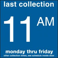 COLLECTION BOX DECALS - 11:00 A.M.