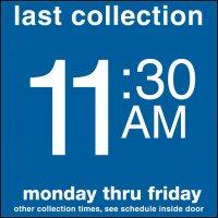 COLLECTION BOX DECALS - 11:30 A.M.
