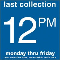 COLLECTION BOX DECALS - 12:00 P.M.