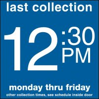 COLLECTION BOX DECALS - 12:30 P.M.