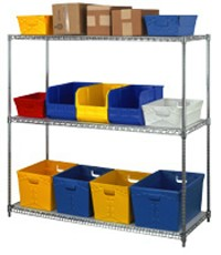 "36""W Steel Shelving - 3 Shelves"